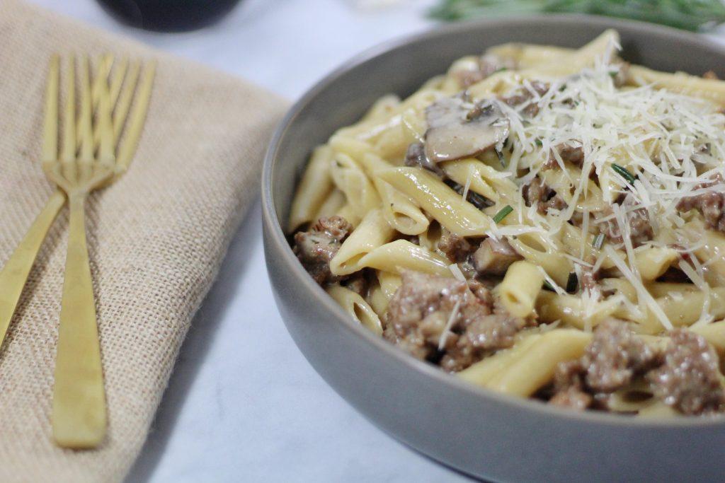 Marsala Pasta with Italian Sausage