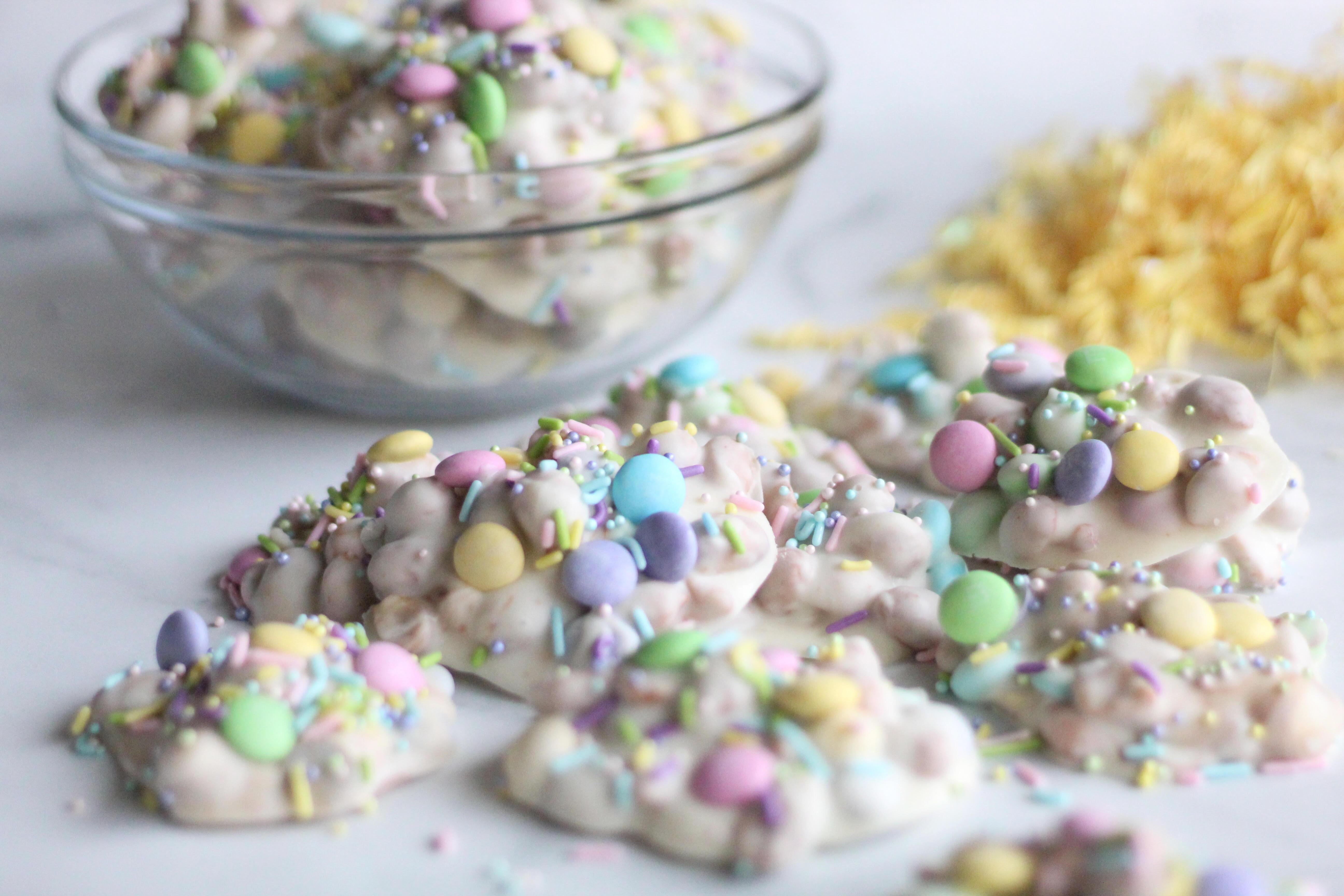 Easter Vanilla Peanut Clusters