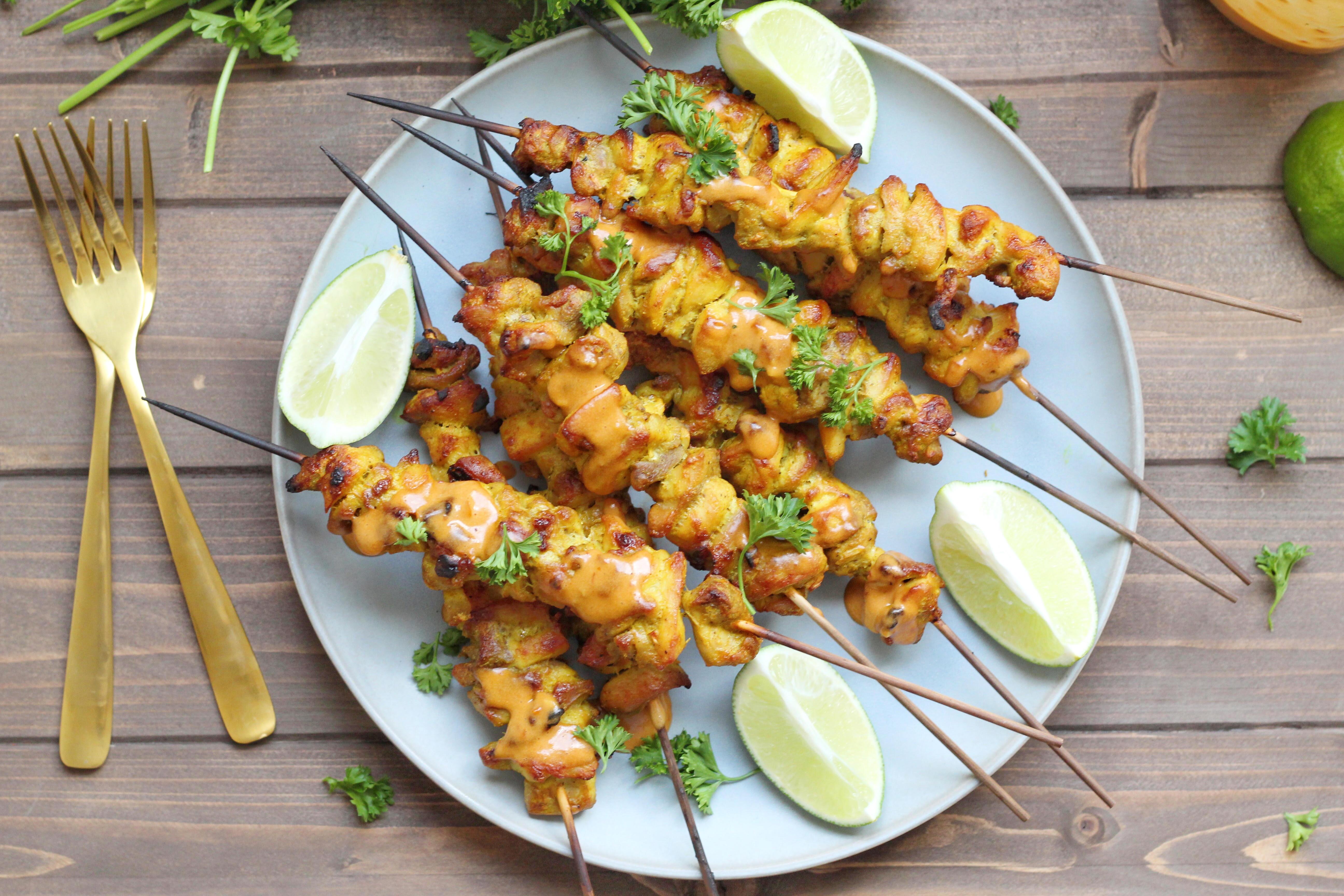 Chicken Satay Skewers Chef Elizabeth Reese
