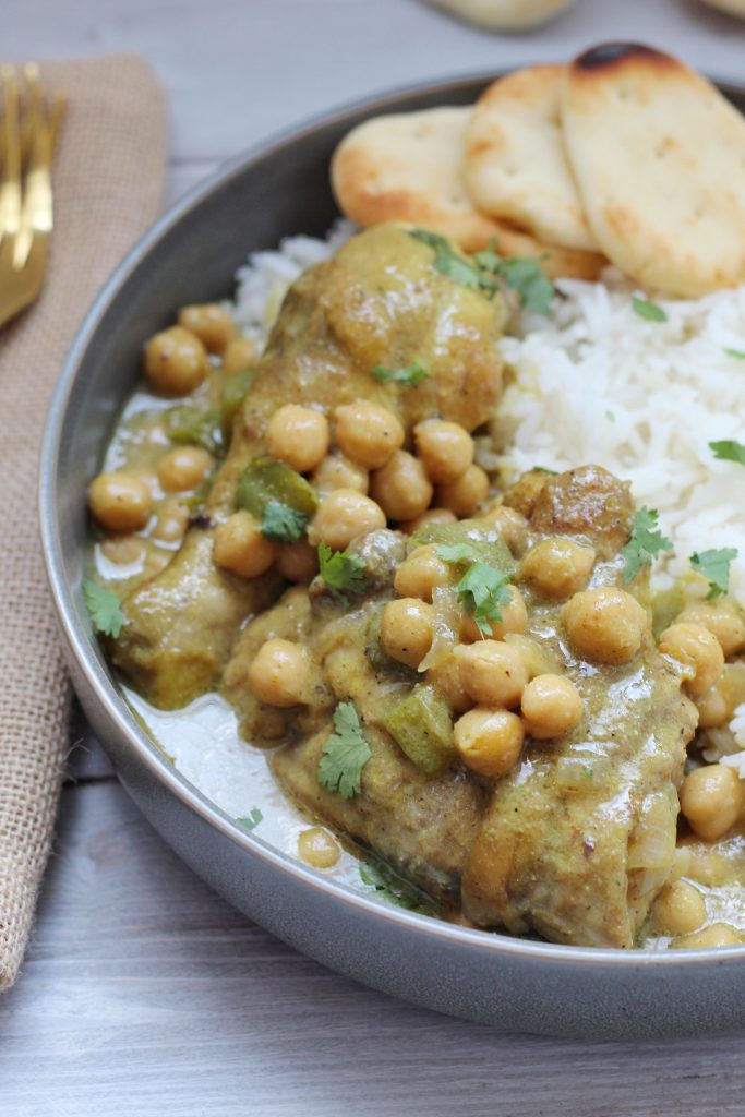 Coconut Curry Chickpea Chicken
