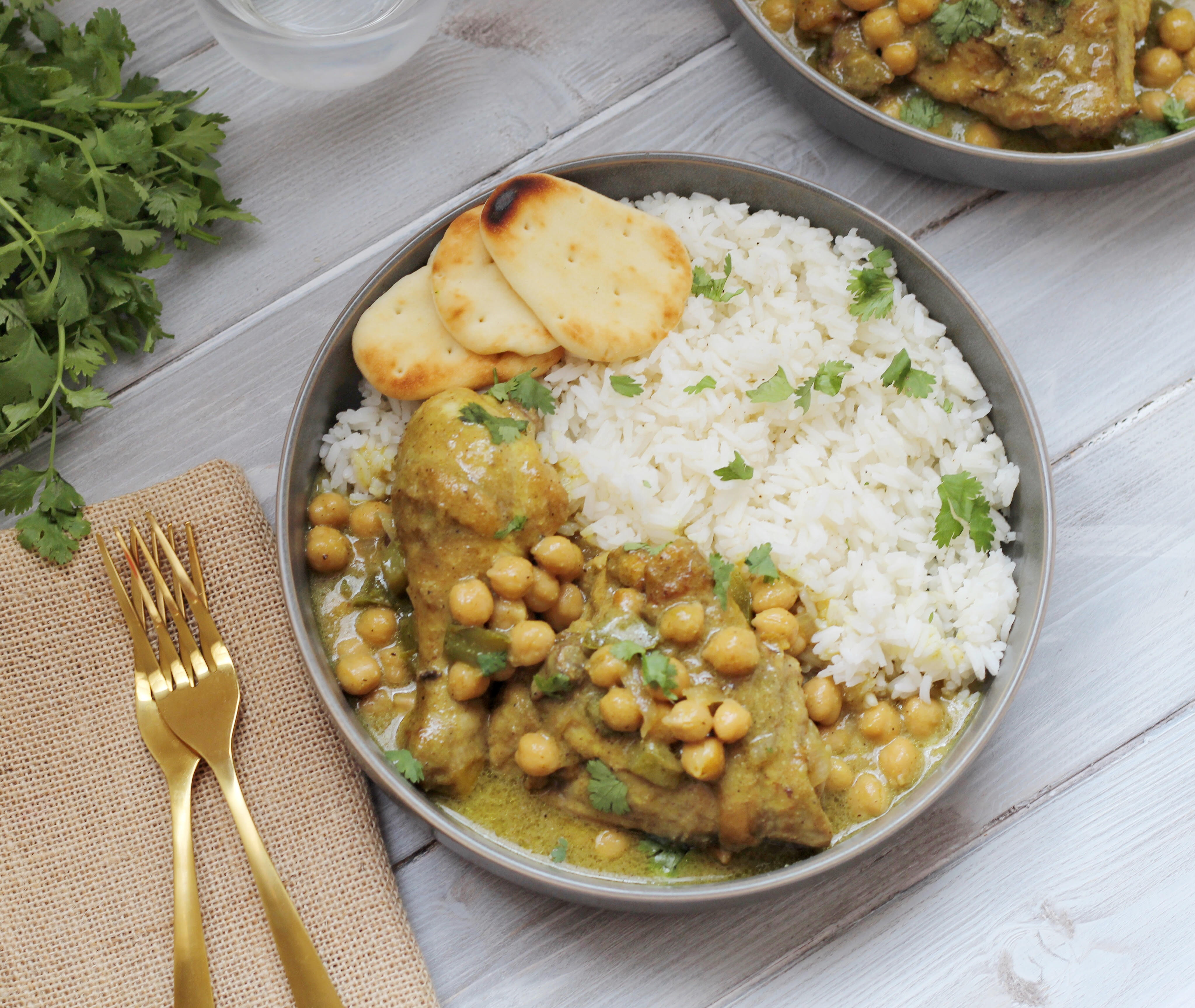 Coconut Chicken Curry with Chickpeas