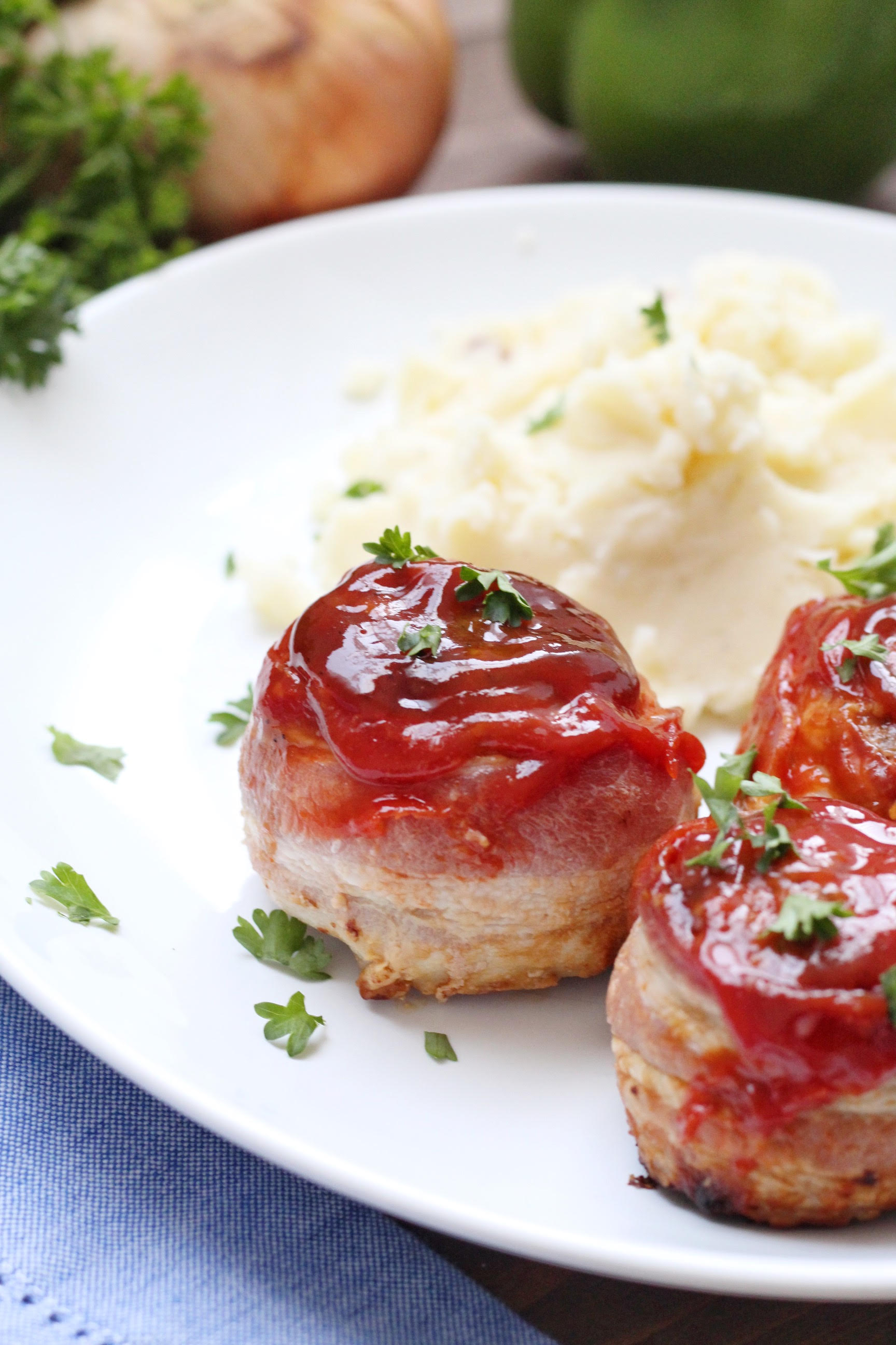 Bacon Wrapped Meatloaf Mini's