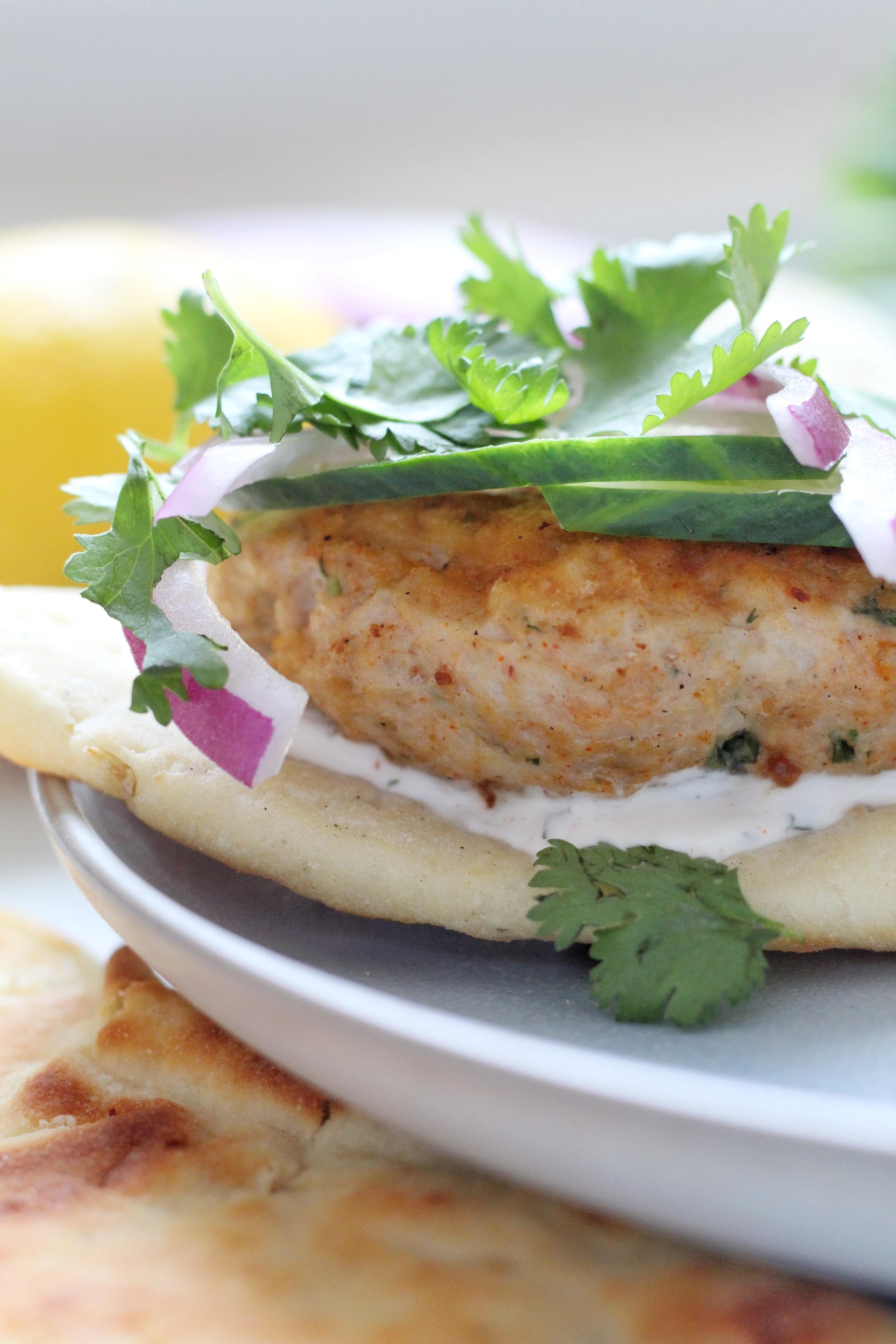 Grilled Tandoori Chicken Burgers