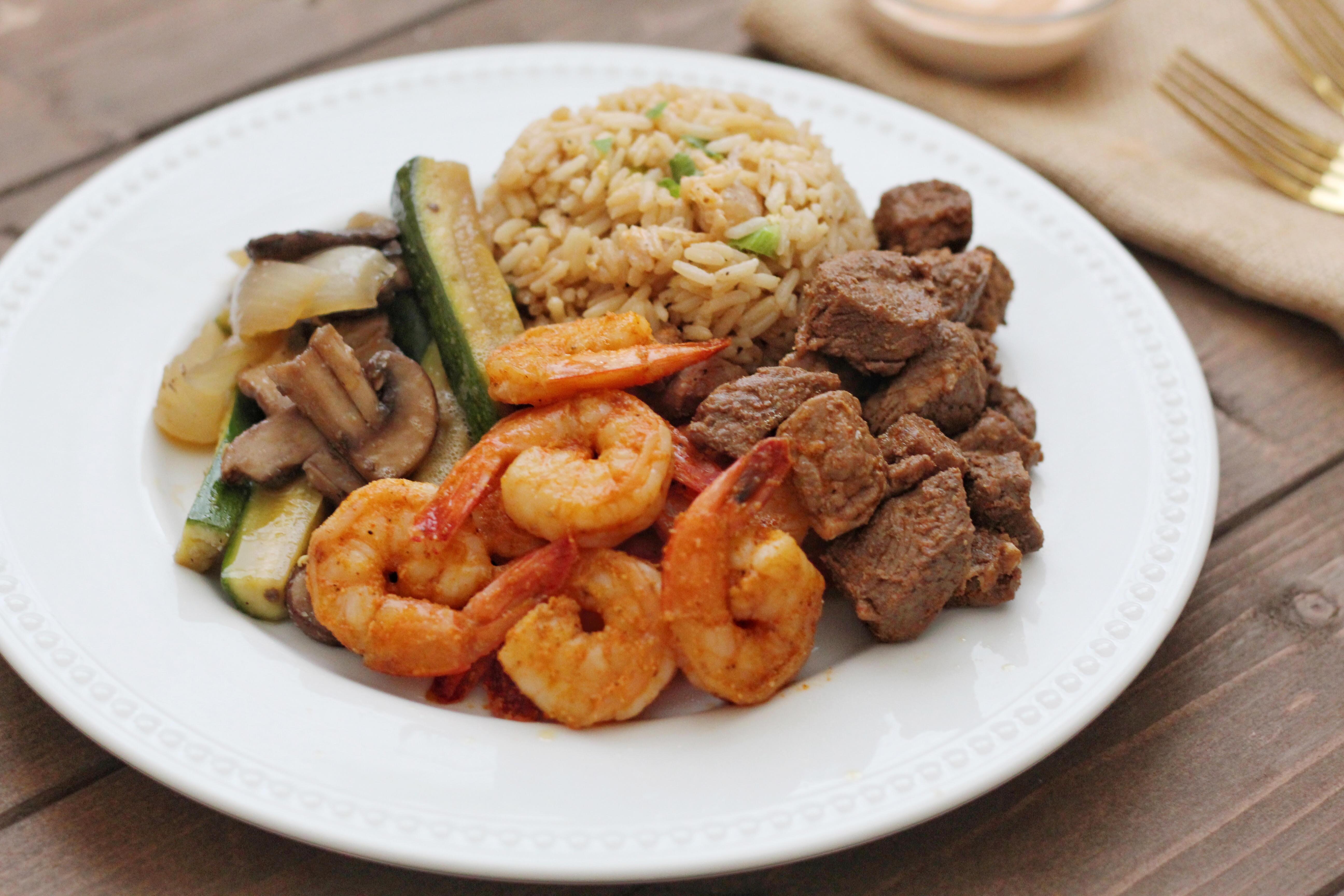 Hibachi Shrimp and Steak