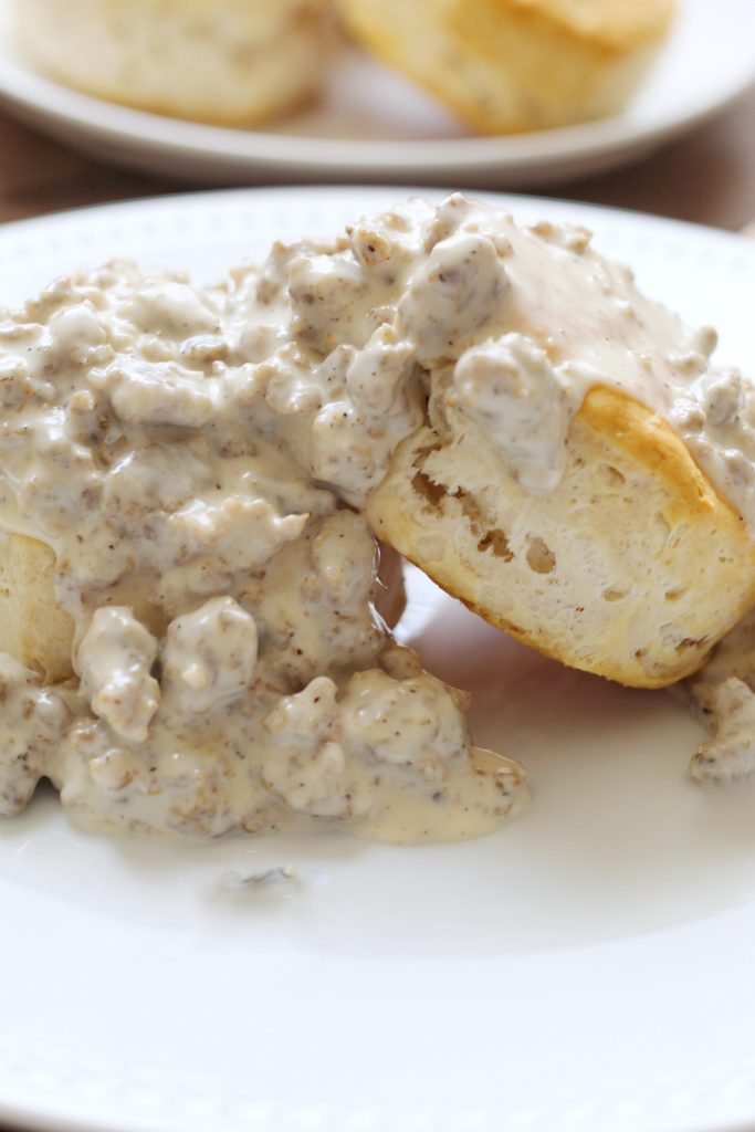 Creamy Biscuits and Sausage Gravy