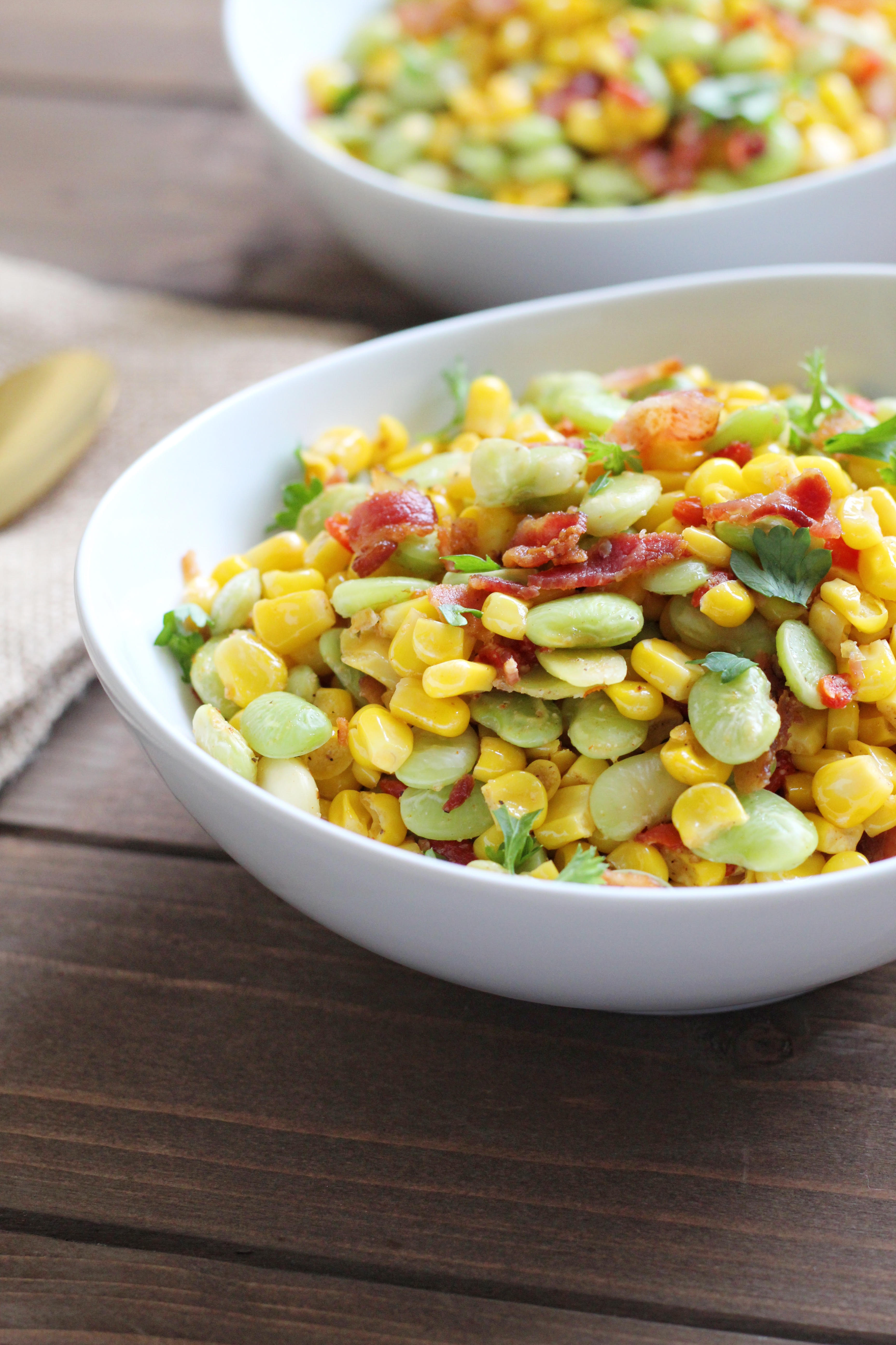 Southern Succotash with Bacon
