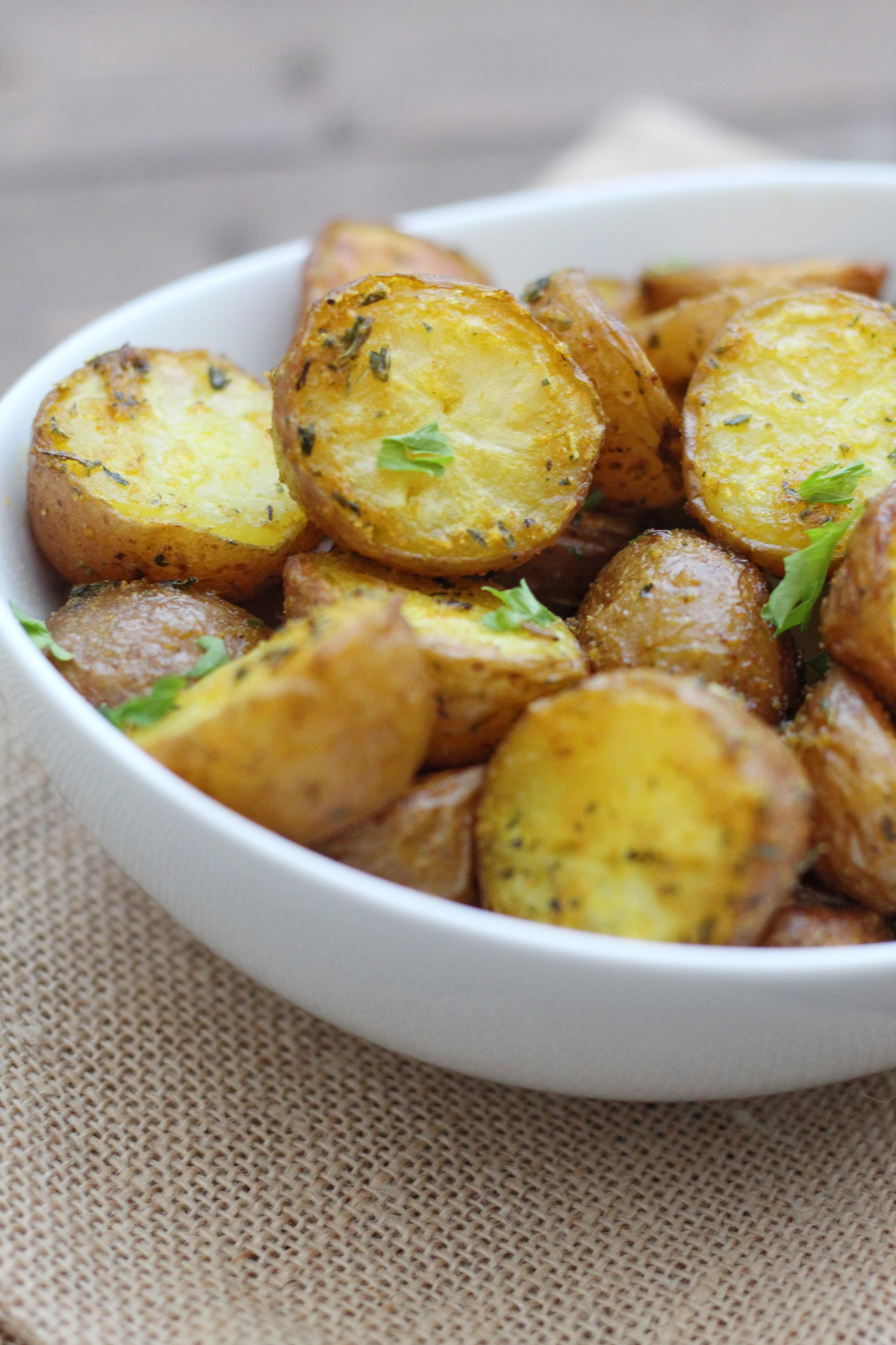 Roasted Garlic Butter Potatoes