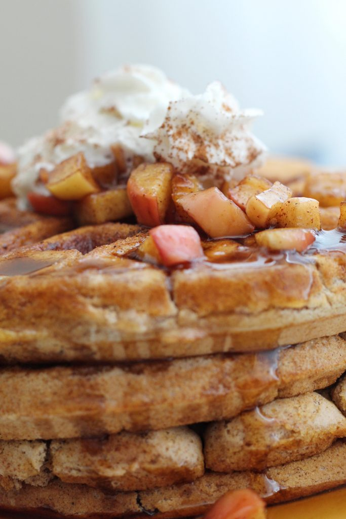 Apple Spiced Waffles