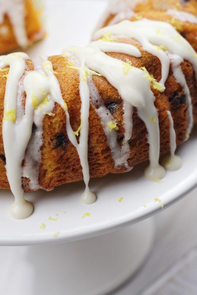 Blueberry Bundt Cake with Lemon Icing