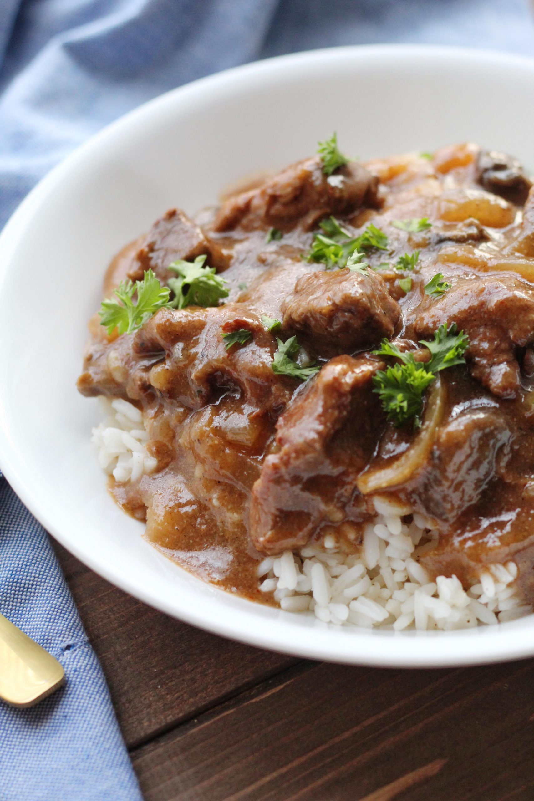 Crock Pot Beef Tips with Mushroom Gravy