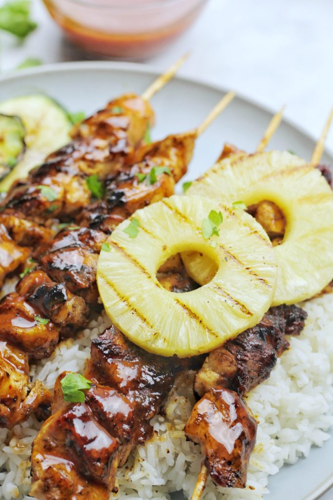 Grilled Hawaiian Chicken Skewers