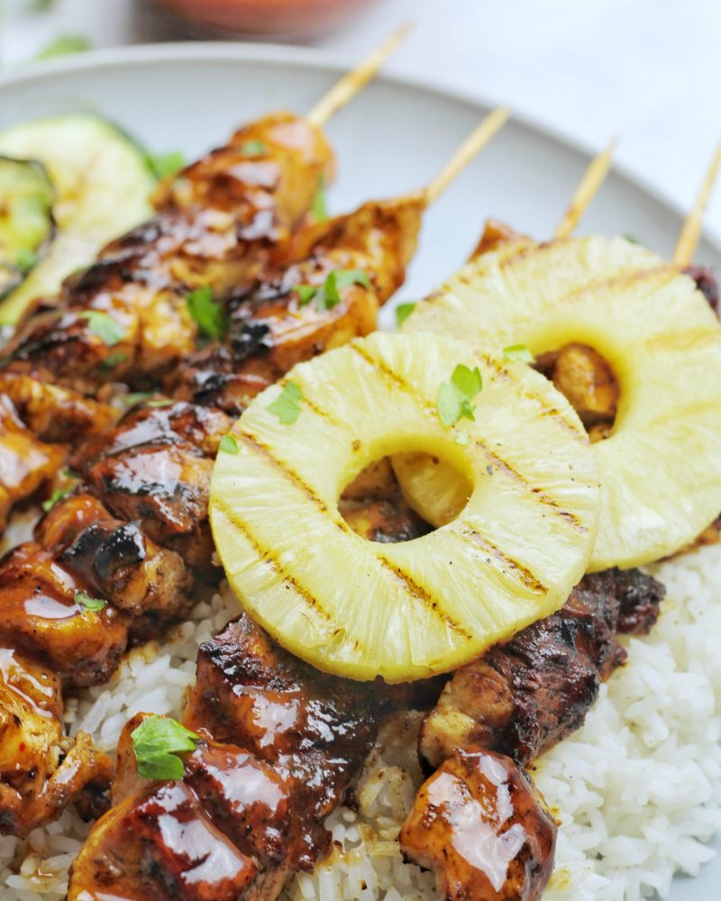 Grilled Hawaiian Chicken Skewers
