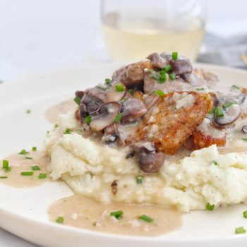 Pork Chops in Creamy Brie Sauce