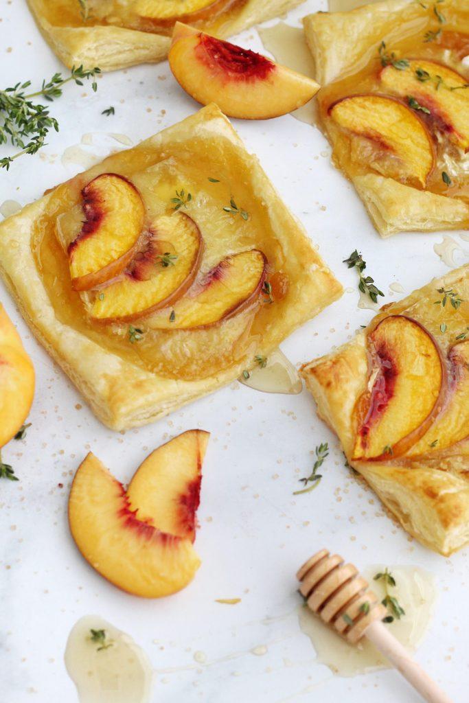 Peach Brie Puff Pasty