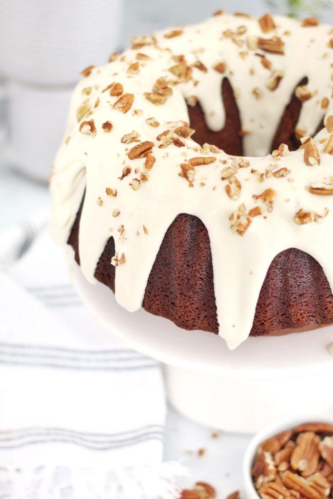 Sweet Potato Bundt Cake with Maple Frosting